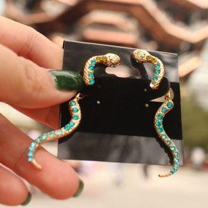 New Crystal Diamond SNAKE Dangle wild fun earrings